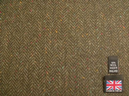 Donegal Tweed Herringbone Fabric AZ62